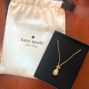 Kate Spade gold-tone pave pineapple necklace
